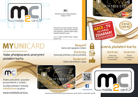 2015 - Client: mobile2card a.s., Prague / Logotype design, prints